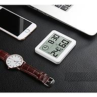 Đồng hồ đo nhiệt độ, độ ẩm siêu mini, siêu mỏng ( Tặng 02 nút kẹp giữ dây điện ) thumbnail