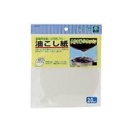 Set 20 giấy lọc cặn dầu ăn, chịu nhiệt 260 độ Nội địa Nhật Bản thumbnail