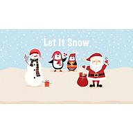 Decal ông già noel và người tuyết PK 547(80x125cm) thumbnail