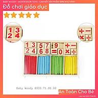 Toán học gỗ - bảng tính que cho bé tập học toán học thumbnail