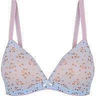 Áo ngực nữ Marguerite Paris 05022 thương hiệu Pháp, mút mỏng, không gọng phối ren lưới in họa tiết hoa nhí thumbnail