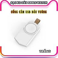 Đế Sạc Không Dây dành cho đồng hồ thông minh Apple Watch 38 40 42 44mm Series 1 2 3 4 5 6 Se cổng cắm USB cao cấp loại bỏ túi (Mã 886) - Trắng, Đen. thumbnail
