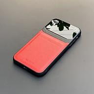 Ốp lưng da kính cao cấp dành cho iPhone XR - Màu đỏ - Hàng nhập khẩu - DELICATE thumbnail