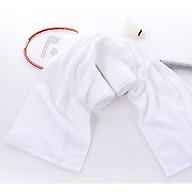 Khăn dài quàng cổ tập thể dục 25x100cm - 100% cotton, mềm mại, siêu thấm nước, an toàn cho da - Màu sắc đa dạng Kem - Trắng - Xám - Xanh Navy thumbnail