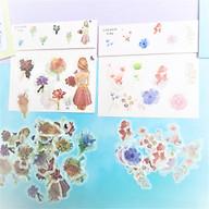 Combo 2 Bộ 32 Sticker Hình Dán Mini Cô Gái Và Hoa thumbnail