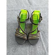 Giày đế xuồng nữ quai hậu - họa tiết đan chéo thanh lịch - Da Xịn NT003 thumbnail