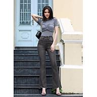 Quần jean nữ ống loe lưng cao lai kiểu thumbnail