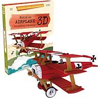 Bộ lắp ghép mô hình 3D giấy MÁY BAY chính hãng Sassi Junior 3D puzzle AIRPLANE thumbnail