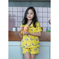 Bộ mặc nhà Pijama bé gái con chồn vàng thumbnail