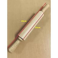 Cán bột gỗ trục xoay trung dài 38cm, rộng 5cm thumbnail