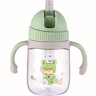 Bình tập uống nước cho bé Lock&Lock 240ml 350ml - Hàng chính hãng, chất liệu nhựa Tritan, có ống hút, có quai cầm, chống sặc, họa tiết ngẫu nhiên thumbnail