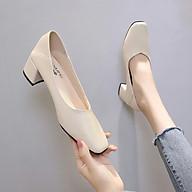 Giày cao gót nữ da mềm gót vuông dẫm gót 5cm hàng cao cấp-CC07 thumbnail