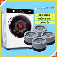 Bộ 04 chân đế cao su đa năng - HT SYS - Đế chống rung máy giặt - Đế chống ồn máy giặt, máy sấy,tủ lạnh, bàn ghế thumbnail
