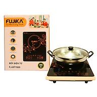 Bếp điện từ, bếp từ đơn 2000W Fujika - tặng kèm nồi lẩu inox-hàng chính hãng thumbnail