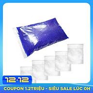 500g hạt hút ẩm Xanh Silicagel Blue và 5 túi vải - Hạt chuyển màu khi no ẩm thumbnail