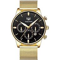 Đồng hồ nektom 8196 vàng đen thumbnail