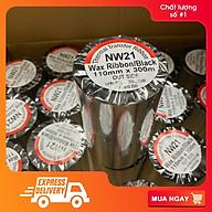 Mực in mã vạch, giấy than in mã vạch, ruy băng Wax Resin Ribbon Premium NW21 110mmx300m thumbnail