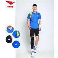 Bộ quần áo cầu lông cao cấp thương hiệu HIWING W1 màu xanh dương thumbnail