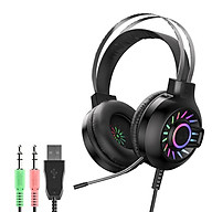 Tai nghe chụp Gaming Hoco ESD04 có mic đàm thoại Có Đèn LED Sêu Đẹp , Âm Thanh Siêu trong , nghe rõ từng chi tiết nhỏ - Hàng nhập khẩu thumbnail