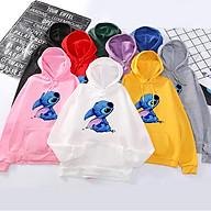Áo Hoodie Thú Stitch Unisex Nỉ Bông Êm Ái Họa Tiết Dễ Thương - MSP T38 thumbnail