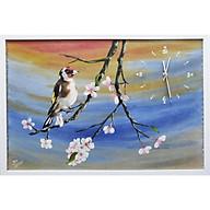 Đô ng hô tranh sơn dầu họa sỹ sáng tác vẽ tay XUÂN VÊ thumbnail
