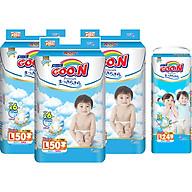 Combo 3 Gói Tã Dán Goo.n Premium Cực Đại L50 (50 Miếng) - Tặng 1 Tã Quần Đại L24 (24 Miếng) thumbnail