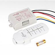 Bộ công tắc điều khiển từ xa 3 kênh 1000W, Remote phát sóng 10 - 50m Tuoxin TX03 thumbnail