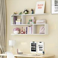 Kệ sách treo tường ziczac 2 tầng - T71 HOMEDECOR thumbnail