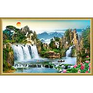 Tranh dán tường phong thủy Sơn Thủy Hữu Tình NewTM-0145K thumbnail