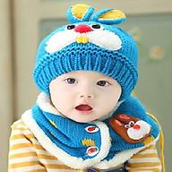 Bộ mũ và khăn len tai thỏ cho bé thumbnail