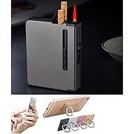 Hộp đựng thuốc lá kèm bật lửa Khò tia lửa mạnh + Tặnggiá đỡ điện thoại thumbnail