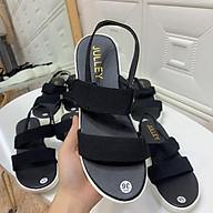 2N06 Giày sandal học sinh thái lan 2 quai nhung đế cao 5cm thumbnail