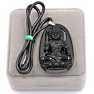 Dây Chuyền Mặt Phật - Bất Động Minh Vương - Thạch Anh Đen 6cm DETES1 - Kèm Hộp Nhung - Tuổi Dậu thumbnail