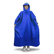 Áo mưa bít người vải dù tổ ong cao cấp freesize - Xanh biển thumbnail