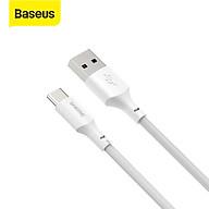 Bộ cáp sạc nhanh và truyền dữ liệu Baseus Simple Wisdom USB to Type-C 5A ( 2 Sợi Bộ ) - Hàng Chính Hãng thumbnail