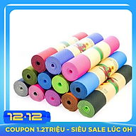 Thảm Yoga 2 Mặt Cao Cấp (173cm x 61cm x 6mm) Giao Màu Ngẫu Nhiên thumbnail
