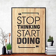 Slogan painting TBIG076 Stop Thinking Start Doing thumbnail
