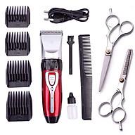Tông đơ cắt tóc gia đình JC 0817 tặng kèm 2 kéo cắt tỉa tóc thumbnail