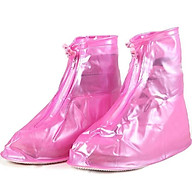 Ủng bọc giày đi mưa chất liệu nhựa dẻo siêu bền đẹp chống trơn trượt - hồng thumbnail