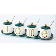 SET BỘ GIA VỊ 4 CHIẾC HOME BẰNG SỨ VIỀN VÀNG thumbnail