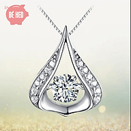 Dây chuyền bạc đá zircon - Dây chuyền nữ trái tim - Trang sức Bé Heo BHDC250 thumbnail
