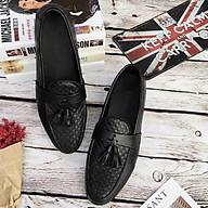 Giày Lười Da Caro Phối Chuông Phong Cách Hàn thumbnail