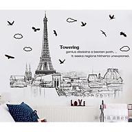 Decal trang trí dán tường hình tháp Eiffel AM9258 thumbnail