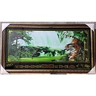 Tranh đèn lịch vạn niên - Phong cảnh và chúa tề rừng xanh thumbnail