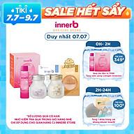 Combo 3 thực phẩm bảo vệ sức khỏe InnerB Aqua Rich Doubleup (56 viên) + Viên uống hỗ trợ sáng da InnerB Snow White (28g) & Hộp 6 chai nước uống Collagen InnerB Glowshot (50mlx6) thumbnail