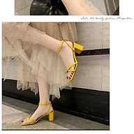 168 ,506 Giày sandal phối dây chéo nữ 7p - Giày cao gót siêu hot, êm chân, nhiều màu, mẫu mới 2020 thumbnail
