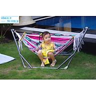 Bộ Khung võng xếp cho em bé sơn tĩnh điện kèm vải lưới thumbnail
