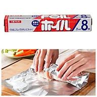 Màng nhôm cao cấp bọc nướng hấp thực phẩm 25cm x 8m + tặng 5 túi zipper 12 x 17cm thumbnail