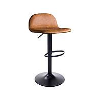 Ghế quầy bar tăng giảm chiều cao bọc giả da chân sắt thumbnail