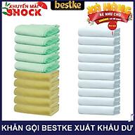 Combo 20 cái Khăn gội bestke quấn đầu 100% cotton xuất khẩu dư, 10 trắng+5 vàng+5 Nõn chuối, Cotton towels, towels manufacturer thumbnail